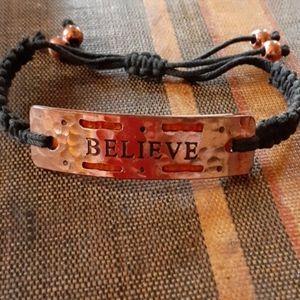 Brass Believe Bracelet